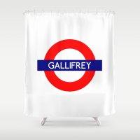 Gallifrey Shower Curtain
