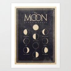 Lunar Phases Moon Cycles Art Print