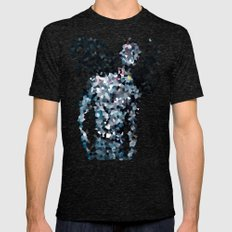 Geometric Valkyrie Walküre Zen Color Abstract Shapes  Mens Fitted Tee Tri-Black SMALL