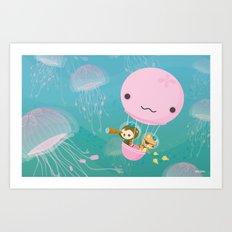The Octonauts Jellyfish Balloon Art Print