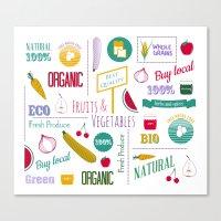 Farmers Market Pattern -… Canvas Print