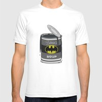 Batsoup Mens Fitted Tee White SMALL
