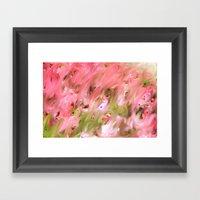 Flowers Field Framed Art Print