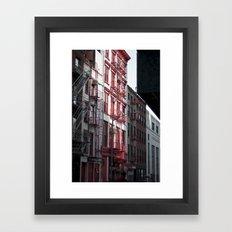 Red & Black Framed Art Print