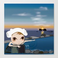 Deery Fairy in Hot Spring Canvas Print