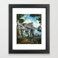 T-Shark Framed Art Print