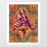 Ganesha (Color Variation 2) Art Print