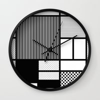 Composition With Black, … Wall Clock