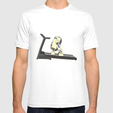 R2D2 color Mens Fitted Tee SMALL White