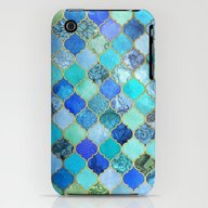 Cobalt Blue, Aqua & Gold… iPhone (3g, 3gs) Slim Case