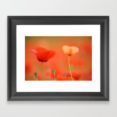 Two poppies 1873 Framed Art Print