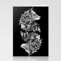 Wolf Profile Stationery Cards