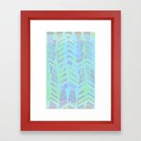 Seaside Chevron Framed Art Print