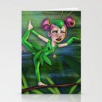 Bug Girls: Yoga Mantis Stationery Cards