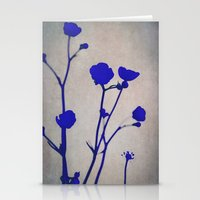 blue silhouettes Stationery Cards