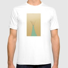 Delicate White Mens Fitted Tee SMALL