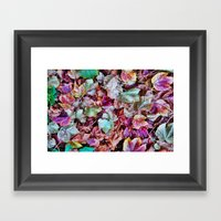 Autum Leaves Framed Art Print