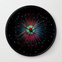 Neon Explosion Wall Clock