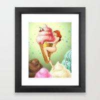 Ice Cream Girl Framed Art Print