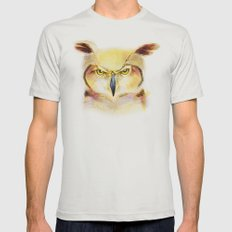 Angry Owl Mens Fitted Tee Silver SMALL