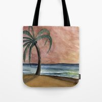 The Waves At Sunset Tote Bag