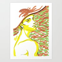 summer girl 1 Art Print