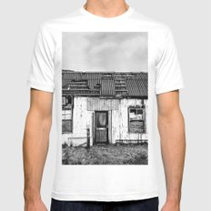 Old Tin Shack SMALL Mens Fitted Tee White