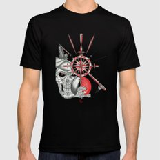 Red Samurai Reaper Mens Fitted Tee Black SMALL