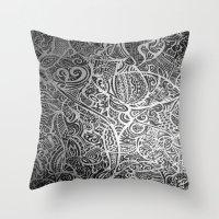 Silver Vivid  Throw Pillow