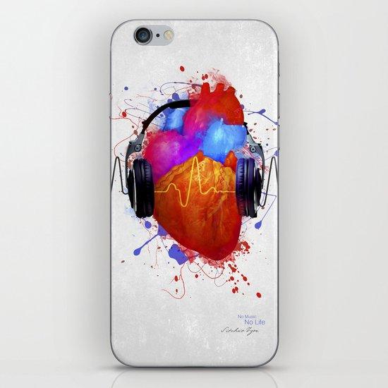No Music - No Life iPhone & iPod Skin