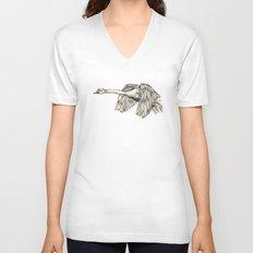 Flying Swan Unisex V-Neck