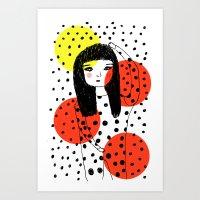 Kusama ♥ Art Print
