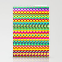 Aztec Summer colors Beach Towel Stationery Cards