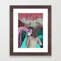 Acid Eye Framed Art Print