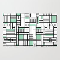 Map Lines Mint Rug