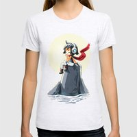 Moonlight Sonata Womens Fitted Tee Ash Grey SMALL