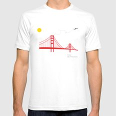 San Francisco.  Mens Fitted Tee White SMALL