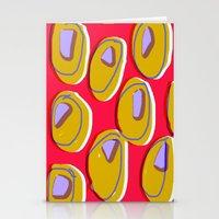 Yellow ochre spot pattern Stationery Cards