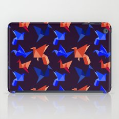 paper cranes in flight iPad Case