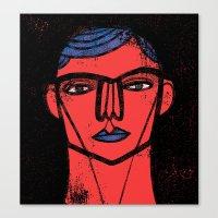 Red Blue Black Canvas Print