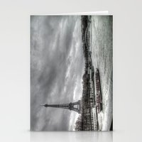 The Eiffel Tower and the Seine - Paris cityscape - hdr Stationery Cards