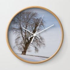In white Wall Clock