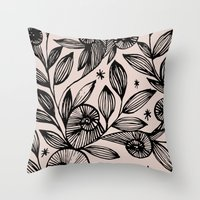 Magical Flowers  Throw Pillow