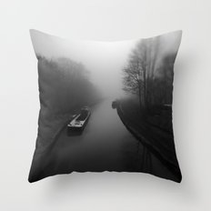 Canal fog Throw Pillow