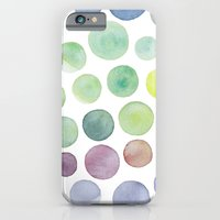 Dots Purple And Green iPhone 6 Slim Case