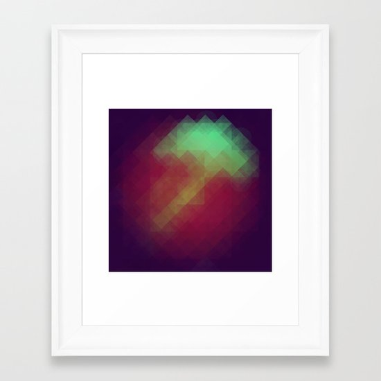 Jelly Pixel Framed Art Print