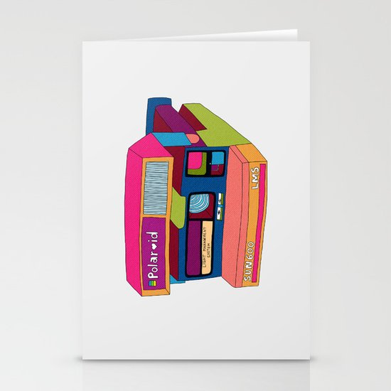 Captures Great Moments (color fun) Stationery Card