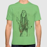 SmkngWomen Mens Fitted Tee Grass SMALL