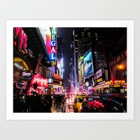 New York City Night Art Print