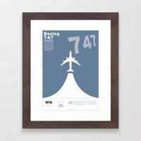 Boeing 747 Framed Art Print